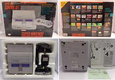 Console Game Gioco Super Nintendo SNES Americano USA NTSC CONTROL SET Scatolato