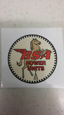 BSA power units stationary engine decal RED vintage