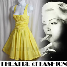 KATE MOSS TOPSHOP DRESS 50s STARLET WEDDING VINTAGE 10 8 SWING ROCKABILLY 60s