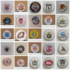 GOLF BALL MARKERS - Qld, EELS, Balmain, DRAGONS,STORM + ADD A  HAT CLIP OR DIVOT