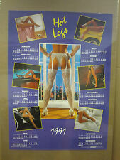 vintage Hot Legs calendar Hot Girls  man Cave car garage 89' poster 1991 2237