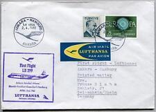 FFC 1961 Lufthansa PRIMO VOLO LH 299 - Ankara Istanbul Atene Monaco Amburgo