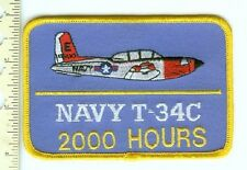 Military  Patch US Navy T-34C 2000 Hours