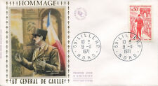 FRANCE FDC - 788B 1697 1 GENERAL DE GAULLE - LILLE 9 11 1971 - LUXE