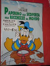 WALT DISNEY-PAPERINO ALLA SCOPERTA-COMPLETA N°1/12- CON COFANETTO-il sole 24 ore