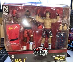 WWE Elite Mr T and Rowdy Roddy Piper