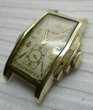 Bulova  AMERICAN Clipper 17J ,10 K RGP  Men's Wrist Watch vintage 1936 runs