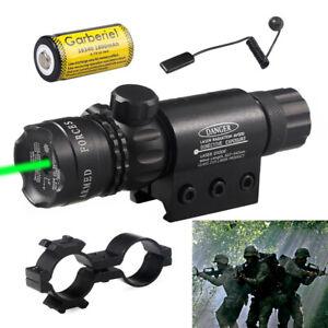 Tactical Green Laser Sight Rifle Dot Scope+ Switch+ Rail+ Barrel Mounts +battery