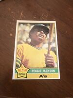 1976 Topps Reggie Jackson Oakland Athletics #500 Baseball Card