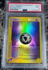Pokemon PSA 9 Metal Energy Reverse Holo from Aquapolis 143/147 Mint Foil