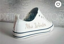 Option 2 Personalised iron On transfers  converse trainers wedding bridal shoes