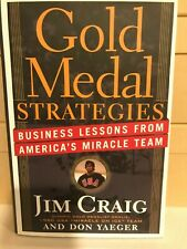 JIM CRAIG 1980 USA OLYMPIC SIGNED AUTOGRAPHED BOOK GOLD MEDAL STRATEGIES HOCKEY