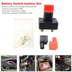 Battery Switch Car Van Truck RV Boat Power Disconnect On Off Rotary Isolator Set