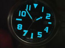 CITIZEN Military 200m Divers Style Eco-Drive Date Two Straps 45MM  Good Lume VGC