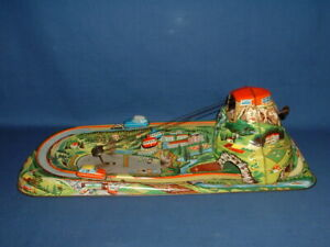 1962 Western Germany Technofix Tin Cable Car Windup Toy (Parts 13)