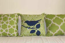 "Vintage Lime Green Set Home Decor Linen CUSHION COVER PILLOW CASE 18"""