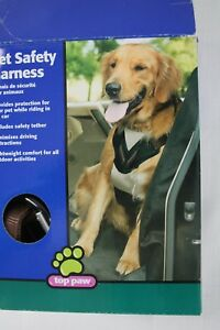 Pet Safety Dog Harness Medium 25-50 lbs Top Paw Tether Brown & Black