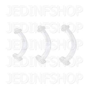 Retainer Hider - Curved Bar | 1.2mm (16g) - 6mm 8mm 10mm 12mm | BioFlex - O-Ring