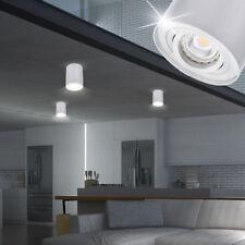 Éclairage plafonnier cylindrique argent GU10 salle à manger cuisine spot couloir