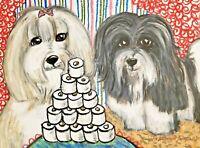 Havanese Collectible 4 x 6 Dog Pop Art Print Signed by Artist KSams Dog HoardsTP