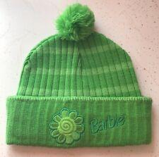 BARBIE POM POM BEANIE Cuffed Winter Knit Hat KIDS GIRLS CHILD SNOW SKATE SLED