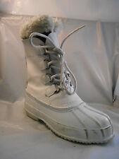 Polaris White Leather Snow Boots w/ Removable Liner Women's Sz 7 / 38 EU