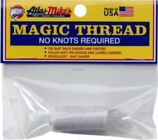 Atlas Mike's 66011 Magic Bait Wrap Thread No Knots Required White 100'