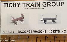 Tichy Train Group HO #8318 Baggage Wagons 10 kits
