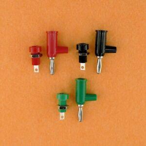 Pomona 4mm Red Black & Green Stacking Banana Plugs & Matching Jacks Set of 3 New