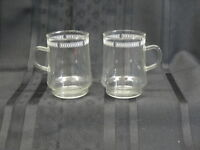 """Set of 2 Schott Zwiesel VERRAN COLLECTION Patterened Glass Mugs, Germany 4"""""""