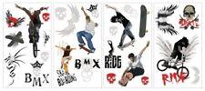 Extreme SPORTS wall stickers skateboard BMX bike 26 decals room decor skate