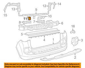 FIAT OEM 14-18 500L Rear Bumper-Support Bracket Left 68250445AA