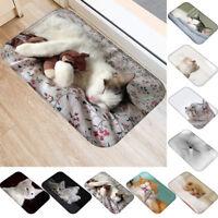 3D Katze Rutschfest Fußabtreter Teppich Badezimmer Wohnzimmer Fußmatte Heim