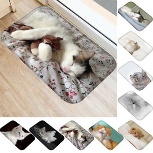 AM_ 3D Cat Anti-slip Doormat Rug Carpet Bathroom Living Room Floor Mat Home Deco