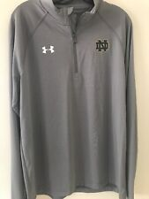 Mens UNDER ARMOUR 1/4 Zip Pullover 1276228 040 Grey LG NEW