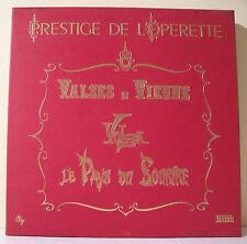 """3 x 33T PRESTIGE OPERETTE Coffret Disques LP 12""""  PAYS DU SOURIRE - VOLGA Rare"""