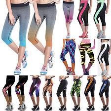Donna Sport Yoga Fitness Leggings palestra 3/4 Pantaloni da jogging aderente