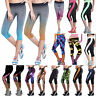 Women Sports Yoga Fitness Leggings Gym 3/4 Pants Jogging Skinny Cropped Trousers