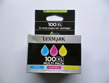3 x Lexmark 100 XL Cyan Magenta Yellow Multipack 3er Set Pack Colorset
