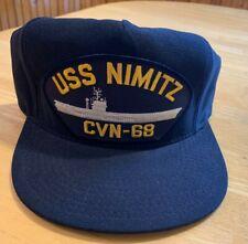 "Uss Nimitz ""Cvn-68"" baseball hat. Never worn! Made in Usa"