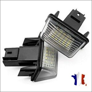 2x Feux de plaque d'immatriculation LED Peugeot-Citroën 206 207 307 308 C3 C4 C5