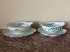 2 Fine China Gravy Boat with Under Plate Dish Made In Japan