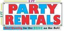 PARTY RENTALS Banner Sign NEW Larger Size Best Quality for the $$$
