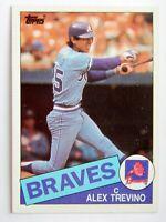 Alex Trevino #747 Topps 1985 Baseball Card (Atlanta Braves) VG