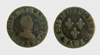 s533_79) France Louis XIII - 1 DENIER TOURNOIS 1615 A