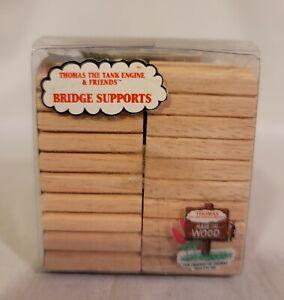 Thomas wooden Railway Very Rare 1994 Bridge Supports New in Box