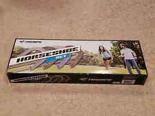 Triumph Hammer-Finished Four Steel Backyard Horseshoe Set with Two Stakes - Nib