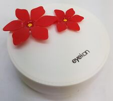 Red Flower Coloured Contact Lens Lenses Travel Kit - Mirror - Case - Tweezers