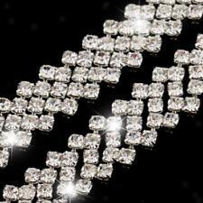 1 Yard Diamante Metal Rhinestone Chain Trim Ribbon for Sewing Decoration DIY