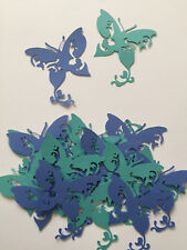 Butterfly Diecuts,Lacy and Elegant,Blue and Teal, Decorations,Scrapbooking,Cards